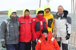 The Crew: Lisa, Rick, Julie, Ken, Martin and Michael